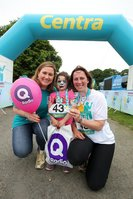 Press Eye - Belfast - Northern Ireland - 5th June 2016 - . Cate Conway, Rosemary Mack and Annabelle Gill take part in the first ever Centra 5k pairs run for Action Cancer at Ormeau Park.. Over 100 families, friends and colleagues paired up today (Sunday 5th June) for the inaugural Centra Run Together event at Ormeau Park, raising vital funds for local charity Action Cancer. . Run Together is a set of four 5k races taking place across Belfast, Mid Ulster and Derry between June and October which encourage you to run with your partner, son, daughter, friend or neighbour. . Picture by Kelvin Boyes / Press Eye . .