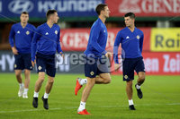 Press Eye - Belfast -  Northern Ireland - 11th October 2018 - Photo by William Cherry/Presseye. Northern Ireland\'s Jonny Evans during Thursday nights training session at the Ernst Happel Stadium in Vienna, ahead of their UEFA Nations League game against Austria.