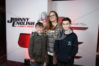 Press Eye - Belfast - Northern Ireland - 30th September 2018 - . Nadine, Tristen and Ethan Johnston pictured at Movie House Dublin Road for a special preview screening of upcoming comedy, JOHNNY ENGLISH STRIKES AGAIN, in cinemas across Northern Ireland from Friday 5th October.. Photo by Kelvin Boyes / Press Eye..