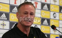 PressEye-Northern Ireland- 7th September  2018-Picture by Brian Little/ PressEye. Northern Ireland\'s   Manager Michael O\'Neill attending a    press conference  ahead of Saturday\'s  UEFA Nations League match against Bosnia and Herzegovina at the National Football Stadium at Windsor Park.. Picture by Brian Little/PressEye