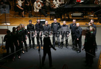 Press Eye - Belfast -  Northern Ireland - 14th December 2015 - Photo by William Cherry. The Radio Ulster workplace choir pictured at the BBC Radio Ulster 40th Birthday gala concert at the Ulster Hall, Belfast.