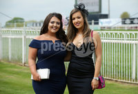 Press Eye - Belfast - Northern Ireland - 7th May 2018  - . May Day Meeting at Down Royal Racecourse.. Lauren McIvor and Carla Armstrong pictured at the County Down racecourse.. Photo by Kelvin Boyes / Press Eye .