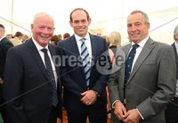 Press Eye - Belfast - Northern Ireland - 8th September 2018 - . Bill Ferris, Simon Best and John Best  pictured at the Archbishop's Palace in Armagh along with friends and family of Dr Rory Best OBE to witness the sportsman's conferment with the Freedom of the Borough of Armagh City, Banbridge and Craigavon..  . Photo by Kelvin Boyes / Press Eye..
