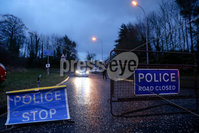 Press Eye - Belfast - Northern Ireland - 20th February 2021. PSNI at the scene of a security alert in the Ashgrove Road area of Newry.. Photo by Philip Magowan / Press Eye