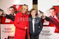 Press Eye - Belfast - Northern Ireland - 30th September 2018 - . Tina Campbellwith her son at Movie House Dublin Road for a special preview screening of upcoming comedy, JOHNNY ENGLISH STRIKES AGAIN, in cinemas across Northern Ireland from Friday 5th October.. Photo by Kelvin Boyes / Press Eye..