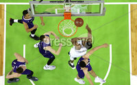 Press Eye - Belfast -  Northern Ireland - 01st December 2017 - Photo by William Cherry/Presseye. Manhattan College with College of the Holy Cross during Friday afternoons Basketball Hall of Fame Belfast Classic game at the SSE Arena, Belfast.  Photo by William Cherry/Presseye