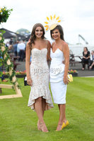 Press Eye - Belfast - Northern Ireland - 22nd June 2019 - . Summer Festival Of Racing Day 2 at Down Royal Racecourse.. Rebecca Smylie and Sarah Smith pictured at Down Royal Racecourse.. Photo by Kelvin Boyes / Press Eye.