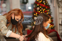 Press Eye - Belfast - Northern Ireland - 20th November  2020. Bellaire Hair and Beauty - (L-R) Jourdan McGerrity with Zara Baxter. Picture by Declan Roughen / PressEye. . Businesses in Northern Ireland such as cafes and hair salons are allowed to reopen after some of the Covid-19 restrictions imposed by the Stormont Executive last month ended on Friday.. That will involve the closure of non-essential retail, close-contact services, restaurants, and churches apart from for weddings and funerals.. Schools remain open under the measures.. Ministers have also advised against household gatherings outside of support bubbles, and said people should work from home.