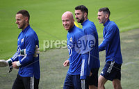 Press Eye - Belfast, Northern Ireland - 01st September 2020 - Photo by William Cherry/Presseye. Northern Ireland\'s Trevor Carson, Liam Boyce, Conor McLaughlin and Micheal Smith during Tuesday mornings training session at the National Stadium at Windsor Park, Belfast ahead of Friday nights Nations League game in Romania.    Photo by William Cherry/Presseye
