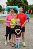 Press Eye - Belfast - Northern Ireland - 5th June 2016 - . Sinead, Patrick, Thomas and Ed Bates from Aghalee  take part in the first ever Centra 5k pairs run for Action Cancer at Ormeau Park.. Over 100 families, friends and colleagues paired up today (Sunday 5th June) for the inaugural Centra Run Together event at Ormeau Park, raising vital funds for local charity Action Cancer. . Run Together is a set of four 5k races taking place across Belfast, Mid Ulster and Derry between June and October which encourage you to run with your partner, son, daughter, friend or neighbour. . Picture by Kelvin Boyes / Press Eye . .