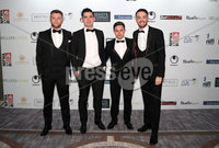 Press Eye - Belfast - Northern Ireland - 13th May 2019 . Northern Ireland Football Awards at the Crowne Plaza Hotel, Belfast. . Photo by Declan Roughan / Press Eye.. (L-R) Linfields Niall Quinn, Jimmy Callacher, Jordan Stewart and Josh Robinson.. .