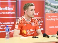 PressEye Belfast - Northern Ireland - 18th May 2017. Tyrone GAA press night at the Garvaghey Centre ahead of the Ulster Senior Football Championship tie against Derry.. Pictured: Tyrone player Niall Sludden at the press night in Garvaghey Centre. Picture by John Stafford/PressEye.com