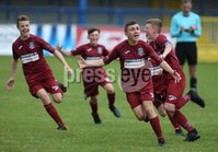 PressEye-Northern Ireland- 27th   July  2018-Picture by Brian Little/PressEye. SuperCupNI. Minor  Section . Greenisland celebrate victory against  Bertie Peacock Youths       during the SuperCupNI Minor Final  at Coleraine Showgrounds. . Picture by Brian Little/PressEye