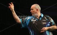 Press Eye - Northern Ireland - 20th April 2017 - Photographer - © Matt Mackey / Presseye.com. Betway Premier League Darts, Night 12, The SSE Arena, Belfast.. Phil Taylor v Gary Anderson. Phil Taylor..