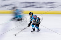 Press Eye - Belfast -  Northern Ireland - 10th October 2018 - Photo by William Cherry/Presseye. Belfast Giants\' David Rutherford during Wednesday nights Elite Ice Hockey League game at the SSE Arena, Belfast.        Photo by William Cherry/Presseye.