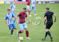 ress Eye - Belfast - Northern Ireland - 27th July 2020 - . Ballymena United FC v Coleraine FC Sadler\'s Peaky Blinder Irish Cup Semi Final at the National Football Stadium at Windsor Park.. Ballymenas Ryan Harpur with Coleraines Ben Doherty. Photo by Jonathan Porter Press Eye.