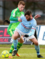 Bet McLean Cup Semi-Final, Showgrounds, Co. Antrim 10/2/2018. Ballymena United vs Cliftonville. Ballymena\'s Jonathan McMurray and Cliftonville\'s Stephen Garrett. Mandatory Credit ©INPHO/Jonathan Porter