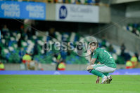 Press Eye - Belfast - Northern Ireland - 12th November 2020. European Qualifier. Northern Ireland v Slovakia. Northern Ireland\'s Stuart Dallas.. Picture: Philip Magowan / Press Eye