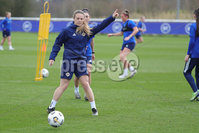PressEye - Belfast - Northern Ireland - 22nd February 2021. Northern Ireland\'s Simone Magill during Monday afternoons training session ahead of Tuesday\'s Women\'s Friendly International against England at St George\'s Park, England. . Picture: Philip Magowan / Press Eye.