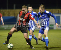 Danske Bank Premiership, The Showgrounds Newry 11/01/2019. Newry vs Crusaders. Newrys Noel Healey  with Crusaders David cushley. Mandatory Credit INPHO/Stephen Hamilton.