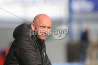 Danske Bank Premiership, Showgrounds, Coleraine , Co. Derry. Northern Ireland 1/5/2021. Coleraine V Cliftonville. Cliftonville manager Paddy McLaughlin watches the game from the stand.. . Mandatory Credit INPHO/Presseye/Lorcan Doherty.