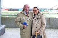 Press Eye - Belfast - Northern Ireland - 3rd November 2018 . Down Royal Festival of Racing - Day 2. Brian Polly and Anne Gomes pictured at Down Royal . Photo by Kelvin Boyes / Press Eye..