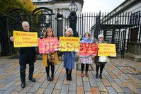 PressEye - Belfast - Northern Ireland - 06th November 2018. Pictured: Pro-life campaigners outside court.. Picture: Philip Magowan / PressEye