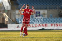 Sadler\'s Peaky Blinders Irish Cup First Round. The Showgrounds, Ballymena, Northern Ireland 27/4/21. Ballymena United vs Portadown. Portadowns Lee Bonis. Mandatory Credit INPHO/PressEye/Philip Magowan