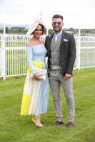 Press Eye - Belfast - Northern Ireland - 22nd June 2019 - . Summer Festival Of Racing Day 2 at Down Royal Racecourse.. Amee Hannigan and Darren Boyd pictured at Down Royal Racecourse.. Photo by Kelvin Boyes / Press Eye.