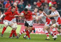 RaboDirect PRO 12, Thomond Park, Limerick 5/5/2012. Munster vs Ulster. Munster\'s Lifeimi Mafi Declan Fitzpatrick of Ulster. Mandatory Credit ©INPHO/Billy Stickland