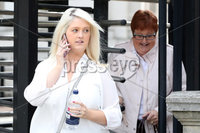 Press Eye - High Court Belfast - 5th October 2018. Photograph By Declan Roughan. (L-R) Sarah Ewart and her mother Jane Christie, leave the High Court in Belfast.