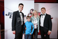 Press Eye - Belfast - Northern Ireland - 30th September 2018 - . Padraig O\'Luasa, Luke Massey and Caroline Beatty and David Priestman pictured at Movie House Dublin Road for a special preview screening of upcoming comedy, JOHNNY ENGLISH STRIKES AGAIN, in cinemas across Northern Ireland from Friday 5th October.. Photo by Kelvin Boyes / Press Eye..