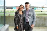 Press Eye - Belfast - Northern Ireland - 3rd November 2018 . Down Royal Festival of Racing - Day 2. Alice Condliffe and George Titov pictured at Down Royal . Photo by Kelvin Boyes / Press Eye..