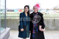 Press Eye - Belfast - Northern Ireland - 3rd November 2018 . Down Royal Festival of Racing - Day 2. Rose McMullan and Cara Walsh pictured at Down Royal . Photo by Kelvin Boyes / Press Eye..