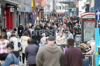 Press Eye - Belfast City Centre - 1st May 2021. Photograph by Declan Roughan - Press Eye. Shoppers return to the streets of Belfast City Centre following the removal of Corona Virus restrictions.