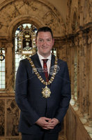 21 May 2019, Mandatory Credit Press Eye/Darren Kidd.  Media release on behalf of Belfast City Council. 21 May 2019. For immediate release. New Lord Mayor of Belfast installed at AGM. Sinn Fein councillor John Finucane has tonight been installed as the new Lord Mayor of Belfast.. The 39-year-old father of four, a newly-elected councillor in the recent Local Government Election, takes over from outgoing Lord Mayor and party colleague, Councillor Deirdre Hargey.. Speaking about his appointment, Councillor Finucane said: Its a privilege for me to be taking over the chain of office from Deirdre and I will continue to keep equality and rights at the heart of my term of office.. I want to be a Lord Mayor for all the people of Belfast, to celebrate our diversity as a city and promote inclusivity; to build economic prosperity and tackle issues such as climate change, which impacts on everyone and affects everyones quality of life.. He added: The Belfast Agenda has ambitions to see a Belfast reimagined, well-connected, culturally vibrant, and a magnet for talent. During my term of office, I will be seeking opportunities to continue to showcase the city and its people, to continue to drive change and build on existing momentum.. Councillor Finucane represents the Castle electoral area of the city.. Also at tonights AGM, Councillor Peter McReynolds was elected Deputy Lord Mayor. The Alliance party councillor takes over from outgoing Deputy Lord Mayor and party colleague, Councillor Emmet McDonough-Brown.. The Alliance councillor is a representative for Ormiston area.. ENDS. ISSUED BY MARKETING & CORPORATE COMMUNICATIONS, BELFAST CITY COUNCIL. For media enquiries and more information please contact:. Press Office, Belfast City Council. Tel: 028 90270221. Out of hours: 07917 458070
