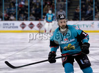 Press Eye - Belfast -  Northern Ireland - 06th April 2019 - Photo by William Cherry/Presseye. Belfast Giants\' Colin Shields during Saturday evenings PredictorBet Playoff Quarter Final 1st Leg game against Coventry Blaze at the SSE Arena, Belfast. Photo by William Cherry/Presseye