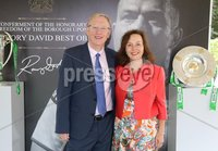 Press Eye - Belfast - Northern Ireland - 8th September 2018 - . Mike and Sheila Reardon pictured at the Archbishop's Palace in Armagh along with friends and family of Dr Rory Best OBE to witness the sportsman's conferment with the Freedom of the Borough of Armagh City, Banbridge and Craigavon..  . Photo by Kelvin Boyes / Press Eye..