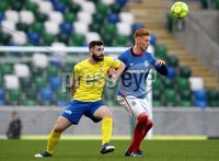 Danske Bank Premiership, Windsor Park, Belfast 2/12/2017 . Linfield vs Dungannon Swifts. Linfield\'s Chris Casement and Cormac Burke of Dungannon Swifts. Mandatory Credit ©INPHO/Brian Little
