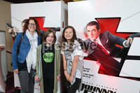 Press Eye - Belfast - Northern Ireland - 30th September 2018 - . Rosie Kearney, Ellie Kearney and Kate Kremenstein pictured at Movie House Dublin Road for a special preview screening of upcoming comedy, JOHNNY ENGLISH STRIKES AGAIN, in cinemas across Northern Ireland from Friday 5th October.. Photo by Kelvin Boyes / Press Eye..