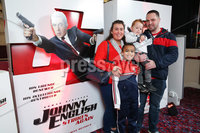 Press Eye - Belfast - Northern Ireland - 30th September 2018 - . Kellyann, Karter, Nathan and Andy Rush pictured at Movie House Dublin Road for a special preview screening of upcoming comedy, JOHNNY ENGLISH STRIKES AGAIN, in cinemas across Northern Ireland from Friday 5th October.. Photo by Kelvin Boyes / Press Eye..