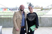 Press Eye - Belfast - Northern Ireland - 3rd November 2018 . Down Royal Festival of Racing - Day 2. Jame DeBox and Gillian Allison pictured at Down Royal . Photo by Kelvin Boyes / Press Eye..