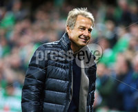 Press Eye - Belfast - Northern Ireland - 9th September 2019 . UEFA EURO Qualifier Group C at the National Stadium at Windsor Park, Belfast.  Northern Ireland Vs Germany. . Former German striker and World Cup winner Jrgen Klinsmann pictured at the match. . Photo by Jonathan Porter / Press Eye.