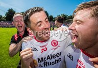 Ulster GAA Senior Football Championship Final, St Tiernach\'s Park, Clones, Co. Monaghan 16/7/2017. Down vs Tyrone. Tyrone\'s Ronan O\'Neill and Mark Bradley celebrate the final whistle. Mandatory Credit ©INPHO/Morgan Treacy