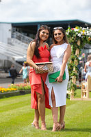 Press Eye - Belfast - Northern Ireland - 22nd June 2019 - . Summer Festival Of Racing Day 2 at Down Royal Racecourse.. Tori Hargan and Demi Lafferty pictured at Down Royal Racecourse.. Photo by Kelvin Boyes / Press Eye.
