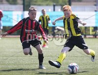 ©/Presseye.com - 9th July 2017.  Press Eye Ltd - Northern Ireland - Hughes Insurance Foyle Cup 2017- Mini Soccer U-10 - Illistrin (Donegal) V Phoenix (Derry). Illistrin\'s Johnny Boyle and Phoenix\'s Rhys Ward..  . Mandatory Credit Photo Lorcan Doherty / Presseye.com