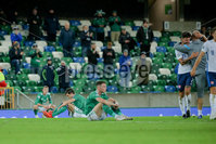 Press Eye - Belfast - Northern Ireland - 12th November 2020. European Qualifier. Northern Ireland v Slovakia. Northern Ireland\'s Tom Flanagan.. Picture: Philip Magowan / Press Eye
