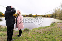Press Eye - Belfast - Northern Ireland  - 4th May 2021. PSNI begin new search for woman Lisa Dorrian who was murdered 16 years ago.  An underwater team have begun searching disused clay pits in the Ballyhalbert area of Co. Down.  The now nature reserve is one mile from the caravan site where the 25-year-old was last seen alive in 2005. . Lisas father John and sister Joanne at the clay pits. . Picture by Jonathan Porter/PressEye