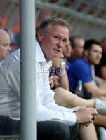 Press Eye - Belfast -  Northern Ireland - 11th June 2019 - Photo by William Cherry/Presseye. Northern Ireland manager Michael O\'Neill during Tuesday nights UEFA EURO 2020 Qualifier against Belarus at the Borisov Arena, Belarus.      Photo by William Cherry/Presseye