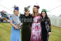 Press Eye - Belfast - Northern Ireland - 3rd November 2018 . Down Royal Festival of Racing - Day 2. Julieann Fearon, Shileen McConville, Shauna Mulgrew and Victoria Shanks pictured at Down Royal . Photo by Kelvin Boyes / Press Eye..